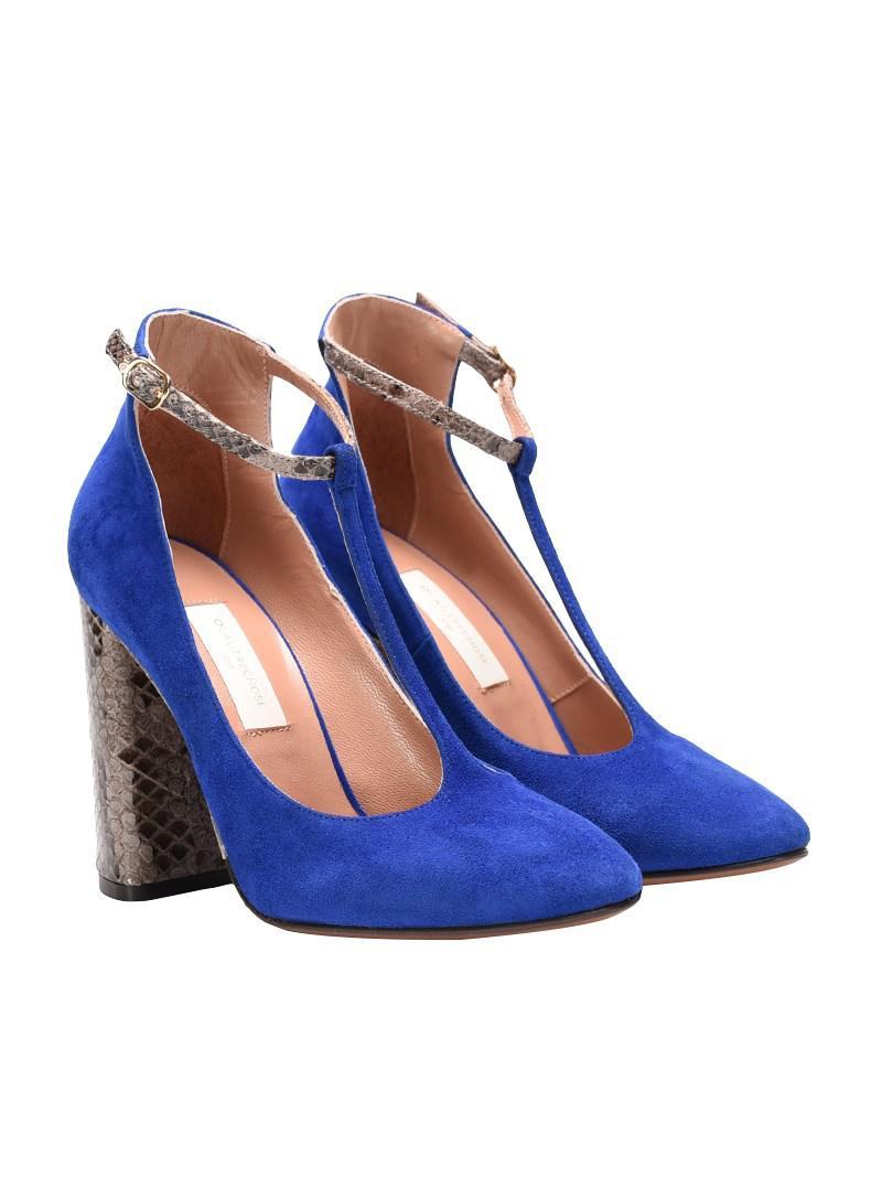 5d9ac9b5f8d Lyst - L Autre Chose Suede T-strap Shoes in Blue