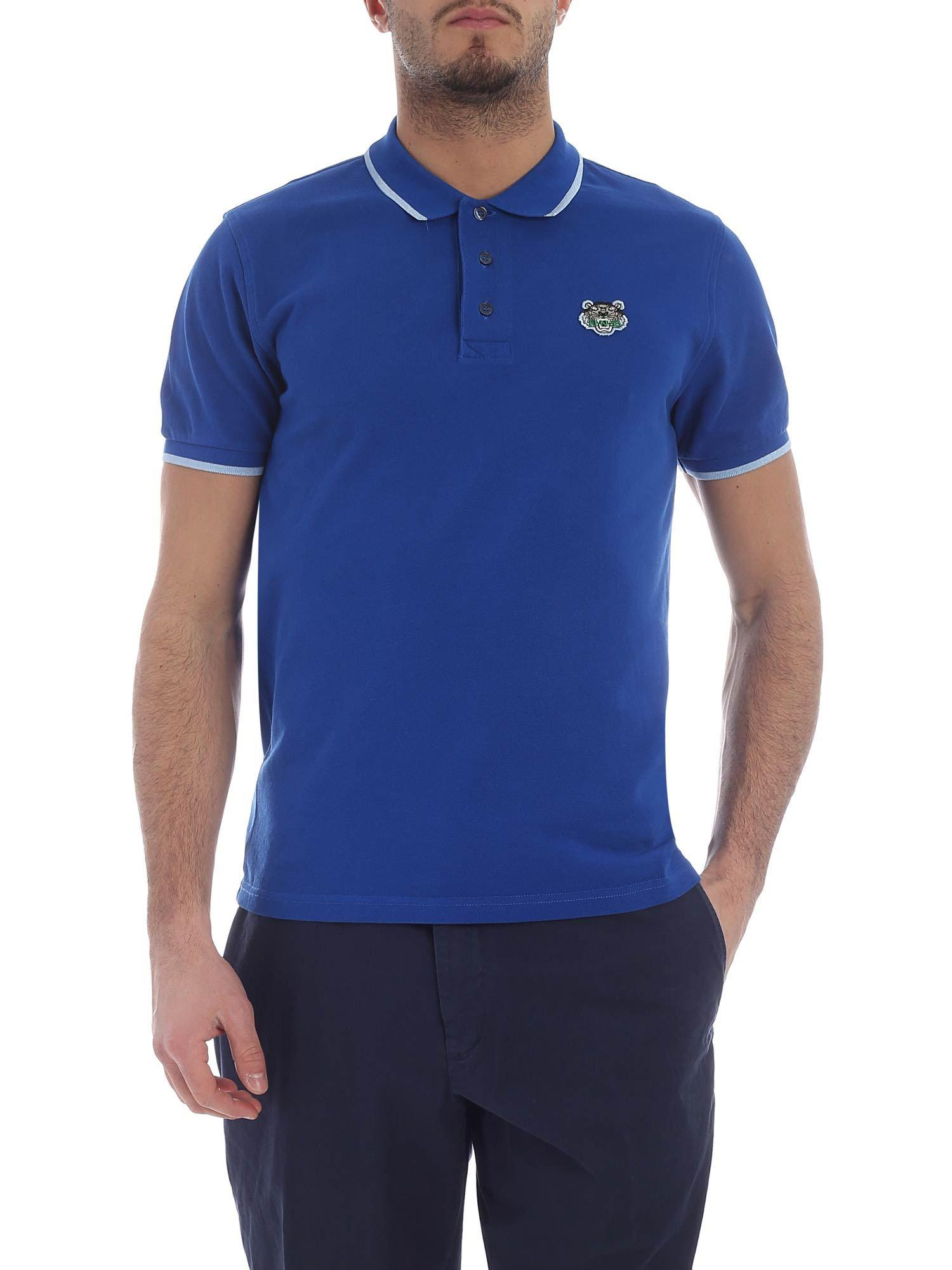 6a0f328339de Lyst - Kenzo K Fit Tiger Bluette Polo in Blue for Men