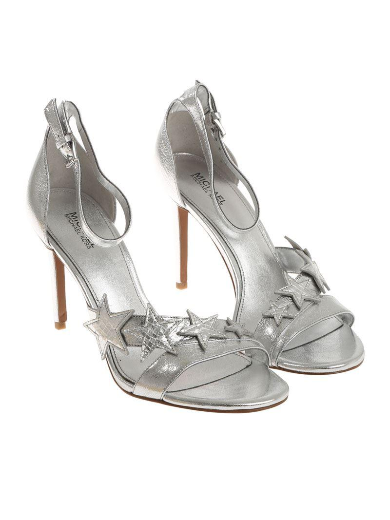 78fa88de01a Lyst - Michael Kors Silver Lexie Sandals in Metallic