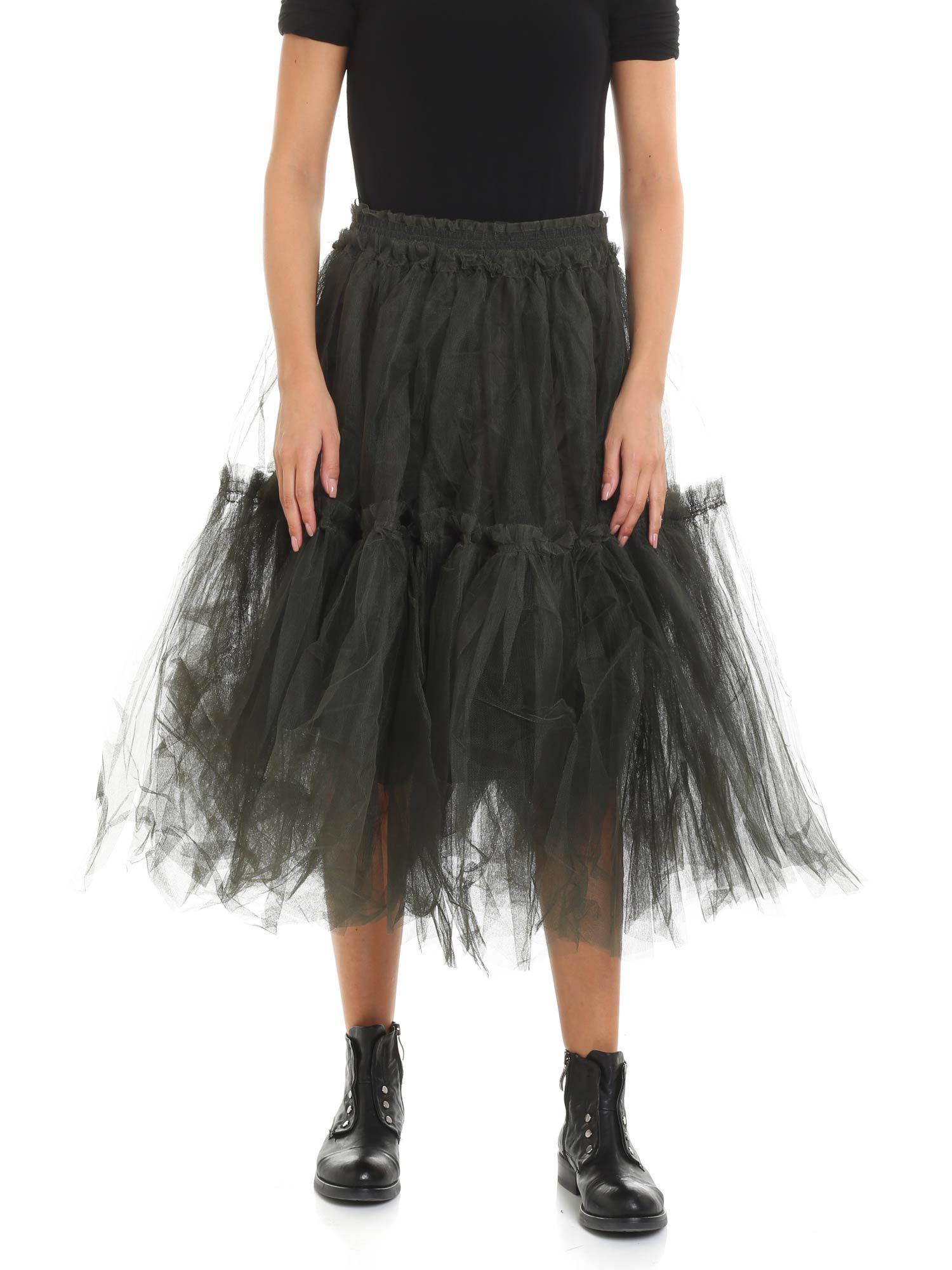 4f2f518f5 Rundholz Green Tulle Midi Skirt in Green - Lyst