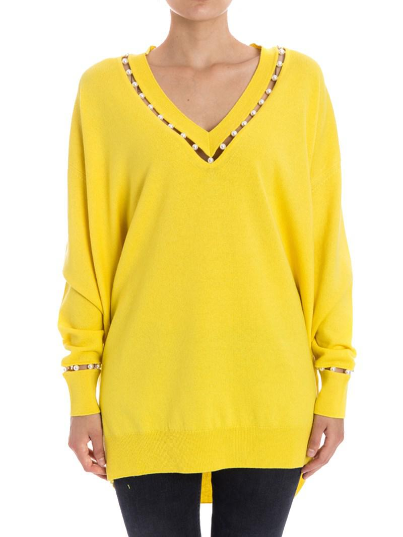 c6be848179 Givenchy Wool Sweater in Yellow - Lyst