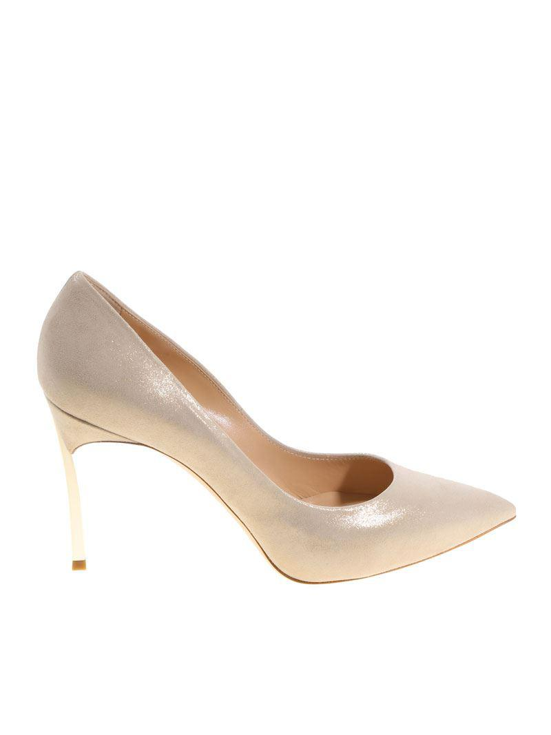 Cheap Websites Suede pumps with golden coating Casadei Purchase HTVqyie