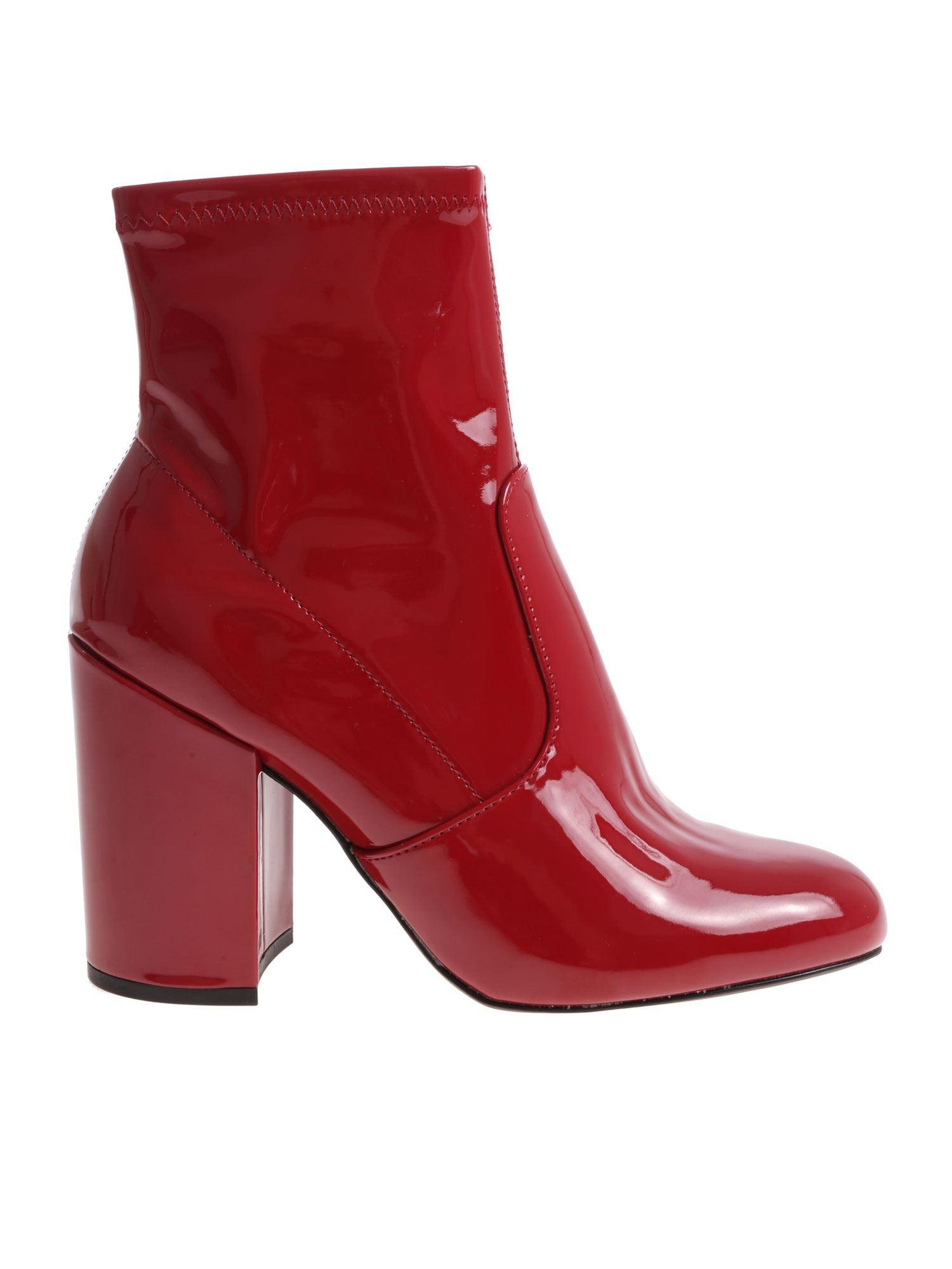 0d376fe9bc0 Lyst - Steve Madden  s Gaze Ankle Boots in Red