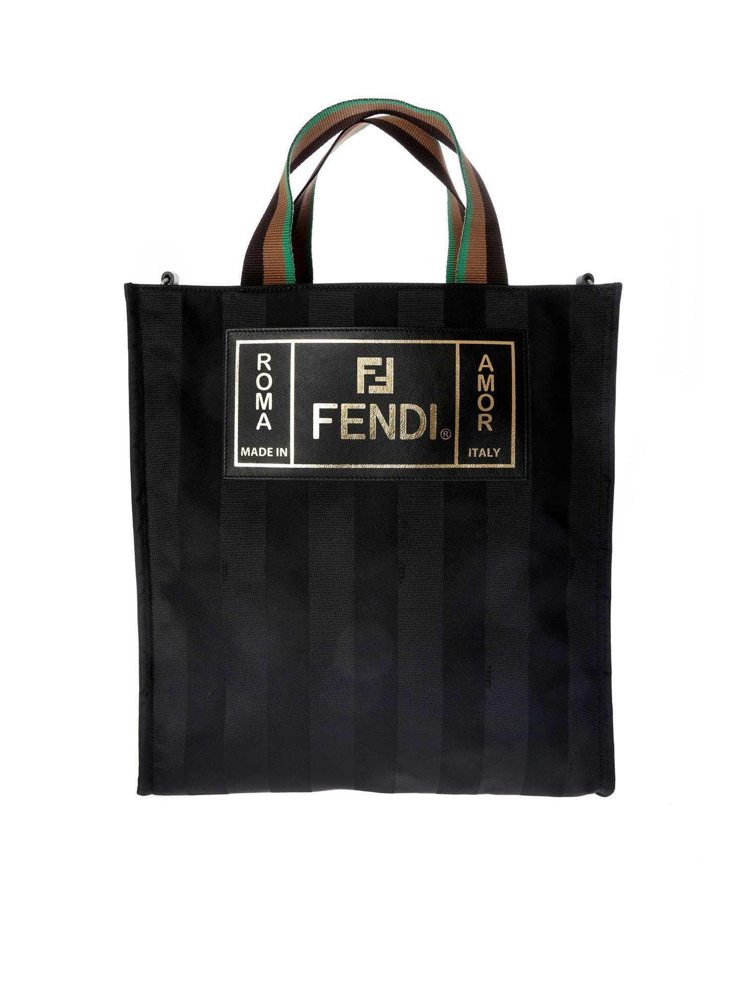 12523600c48d Lyst - Fendi Black Small Market Tote in Black for Men - Save 12%