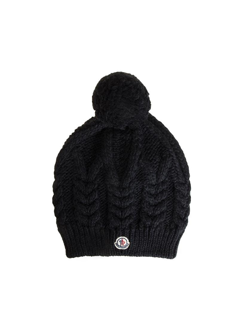 468f61e48e0 Lyst - Moncler Wool Cap in Black