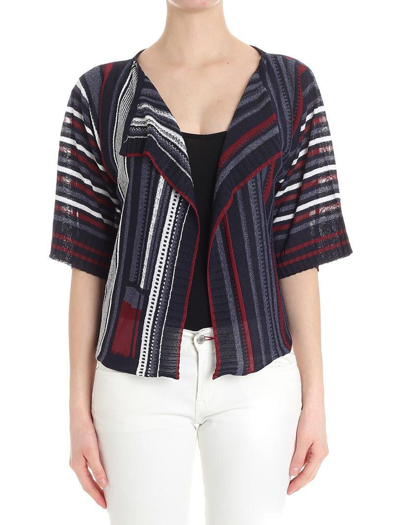 Best Store To Get For Sale Striped cardigan with lurex thread Caractere Discount Shop e0lrRIFr29