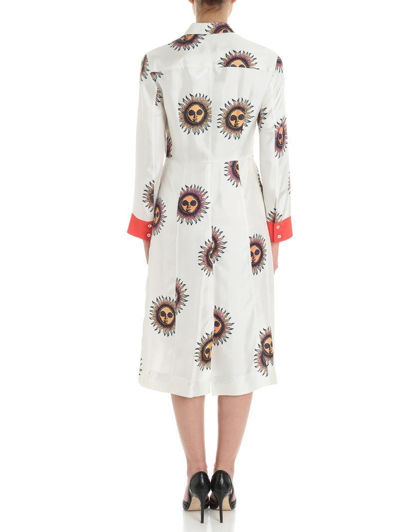 Ivory sun printed dress Paul Smith Rg7lZ