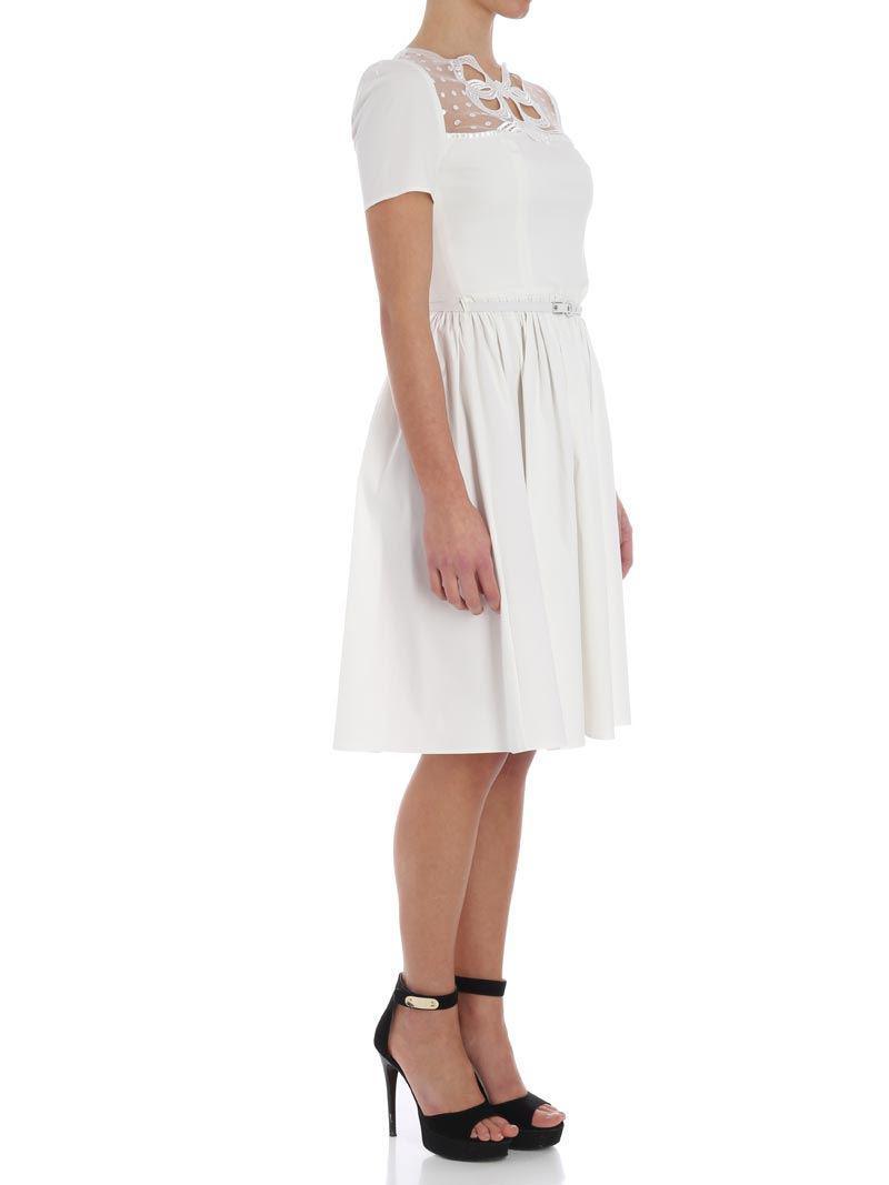 With Paypal Cheap Online Genuine White dress with bow Blumarine HBkHEshX