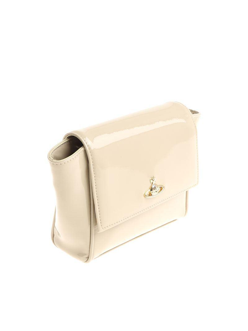 cbd14303e415 Vivienne Westwood - Natural Patent Leather Clutch Bag - Lyst. View  fullscreen