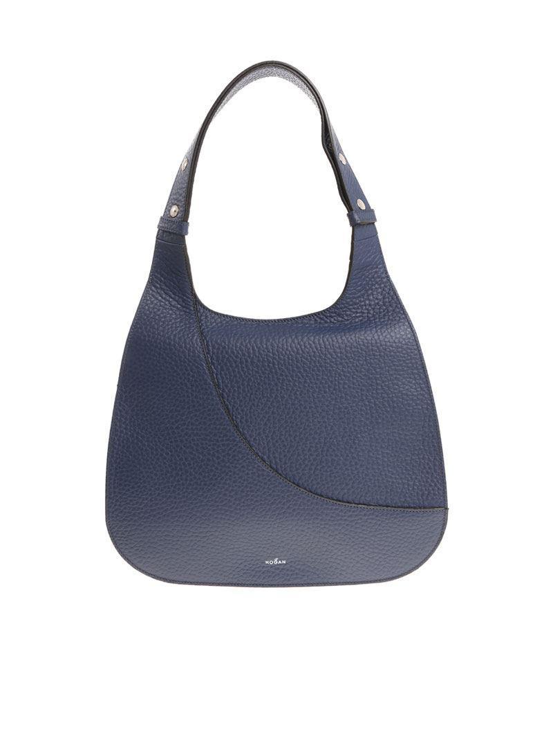 Blue leather shoulder bag Hogan R64fAKKs