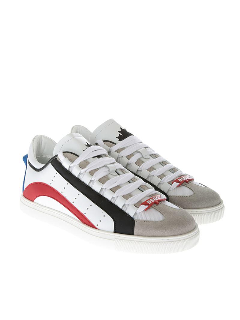 Runner sneakers with multicolor inserts Dsquared2 ADNxB
