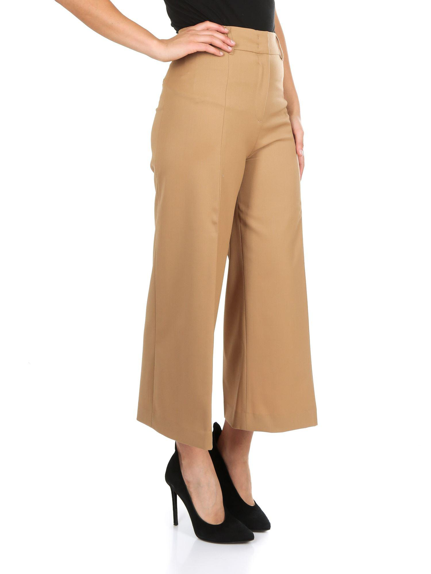the best attitude ff623 aca40 twin-set-camel-Camel-colored-Wool-Crop-Trousers.jpeg