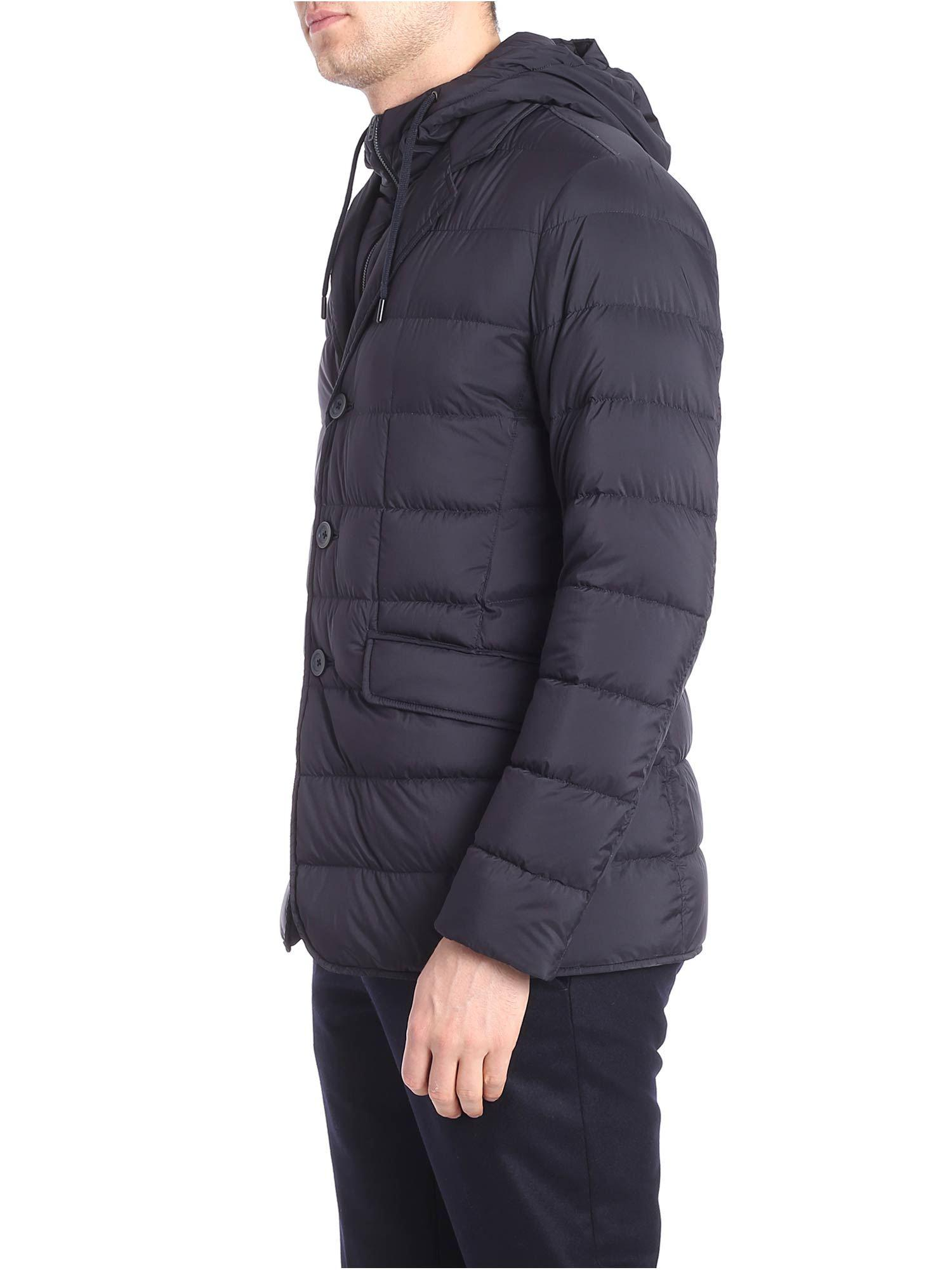 403dd2145148 Herno - Blue Down Jacket With Removable Insert for Men - Lyst. View  fullscreen