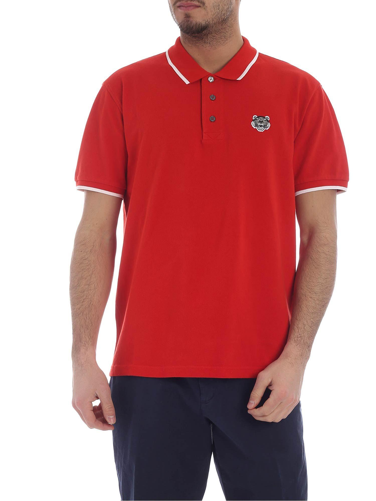 ea59c791a920 KENZO K Fit Tiger Red Polo in Red for Men - Lyst