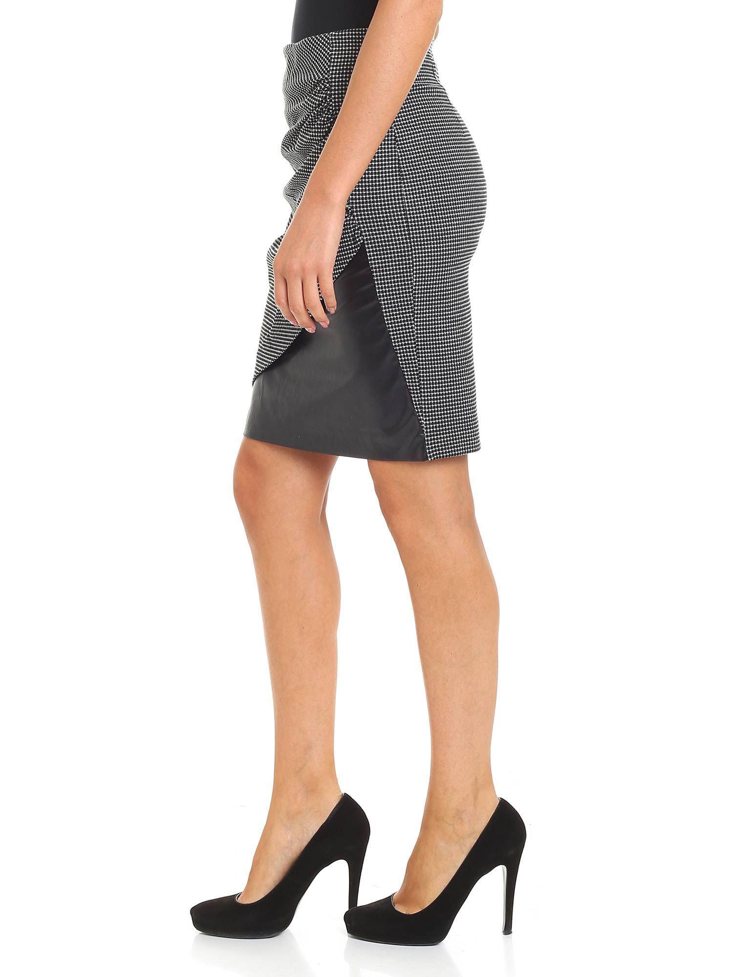 4acf695020 Lyst - Pinko Spillo Black And White Skirt in Black