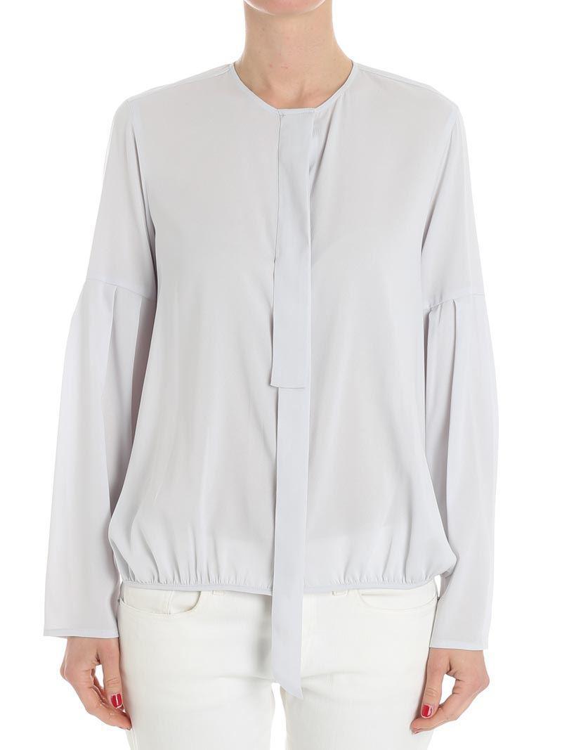 8111876e04c46 Fabiana Filippi Light Gray Silk Blouse in Gray - Lyst