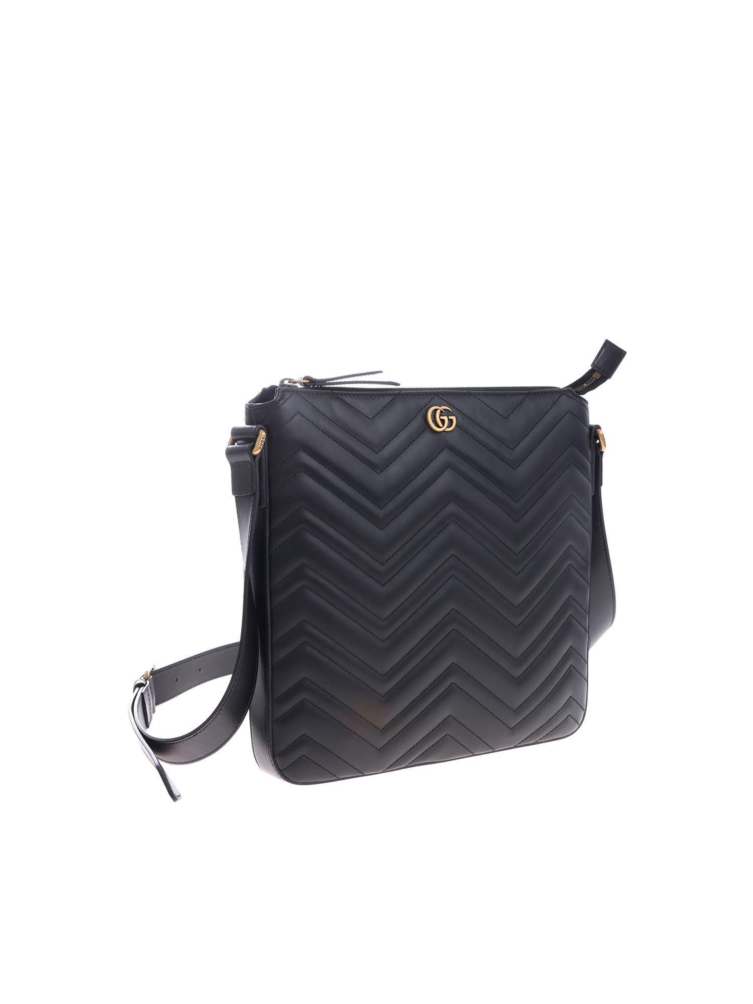 656d51e884c Gucci Messenger Marmont Crossbody Bag in Blue for Men - Lyst