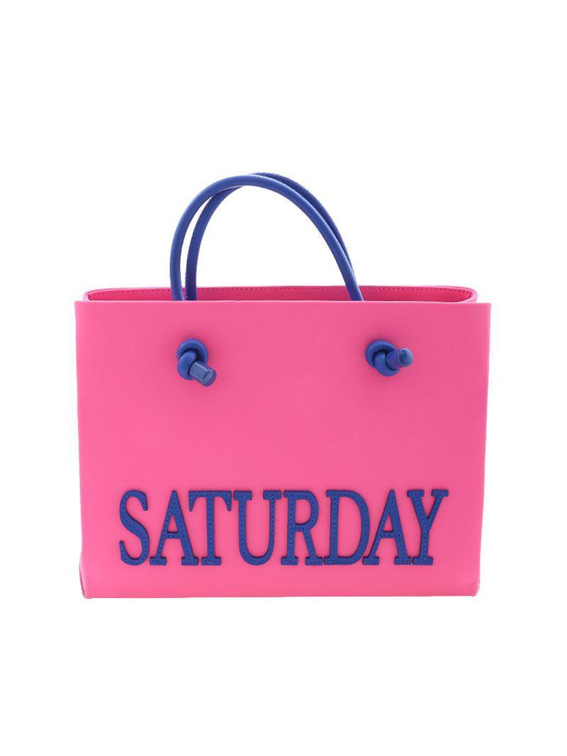 Alberta Ferretti Neon pink Saturday mini shoulder bag Iv7tREslKL