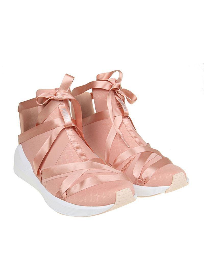 Puma Pink Fierce Rope Satin Sneakers in Pink - Lyst 6dcdd36c3