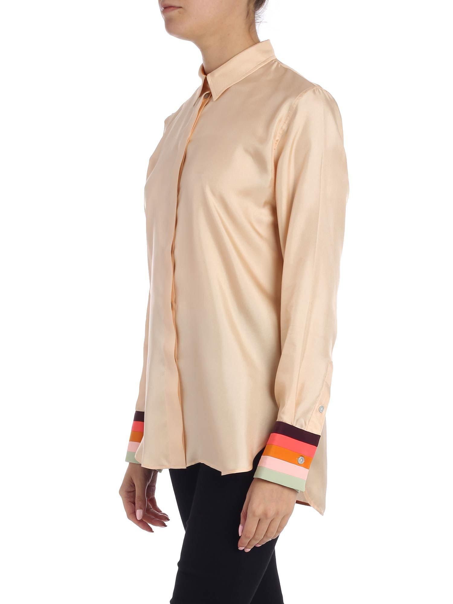 61de1db1d22d Paul Smith - Natural Nude Silk Shirt - Lyst. View fullscreen