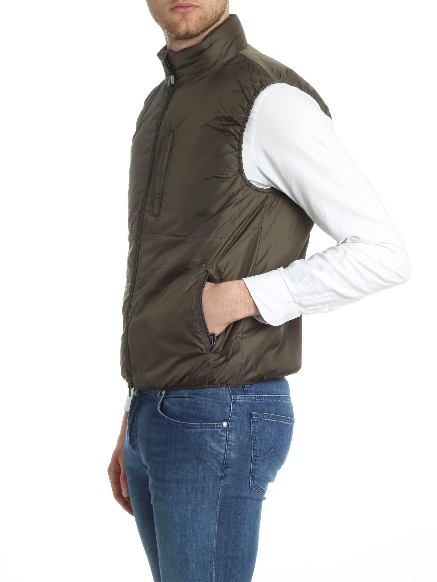 f3be6b85209ca1 Lyst - Aspesi Army Green Jil Sleeveless Padded Jacket in Green for Men