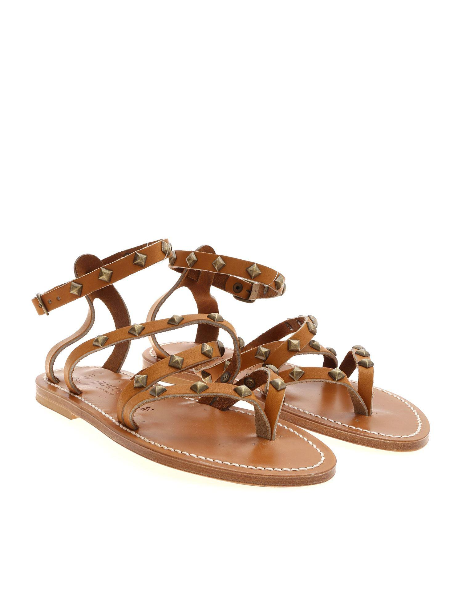 Sandals In Lyst Cuir Epicurepyr Beige Js54rc3alq Kjacques F Natural hdCQrxBots
