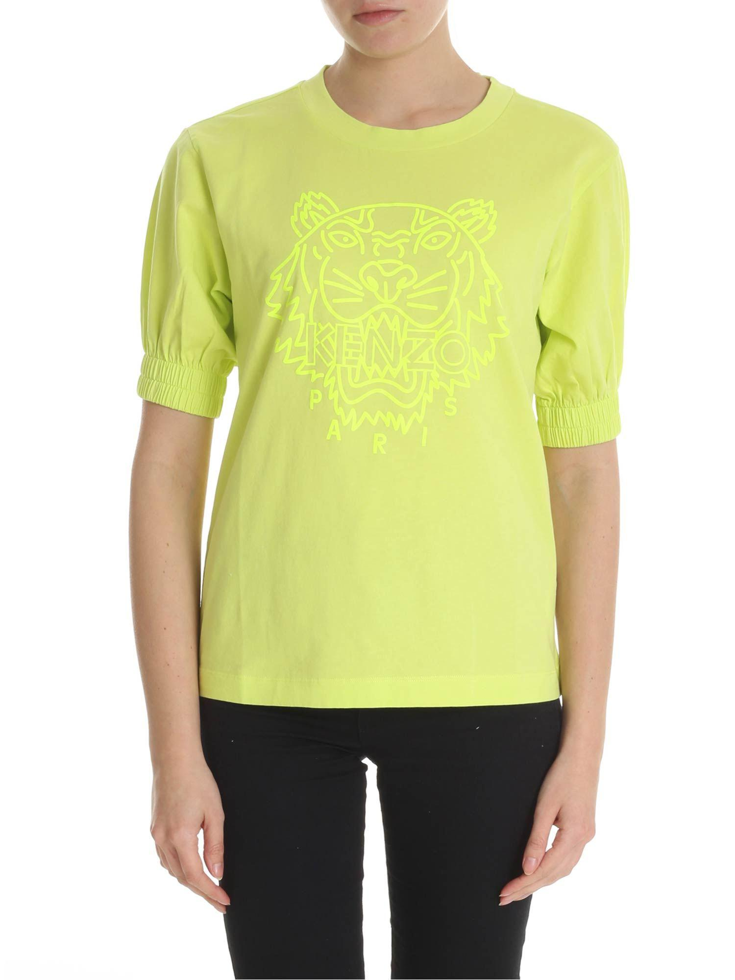 75f3d814225f1 KENZO Neon Lime Green Tiger T-shirt in Green - Lyst