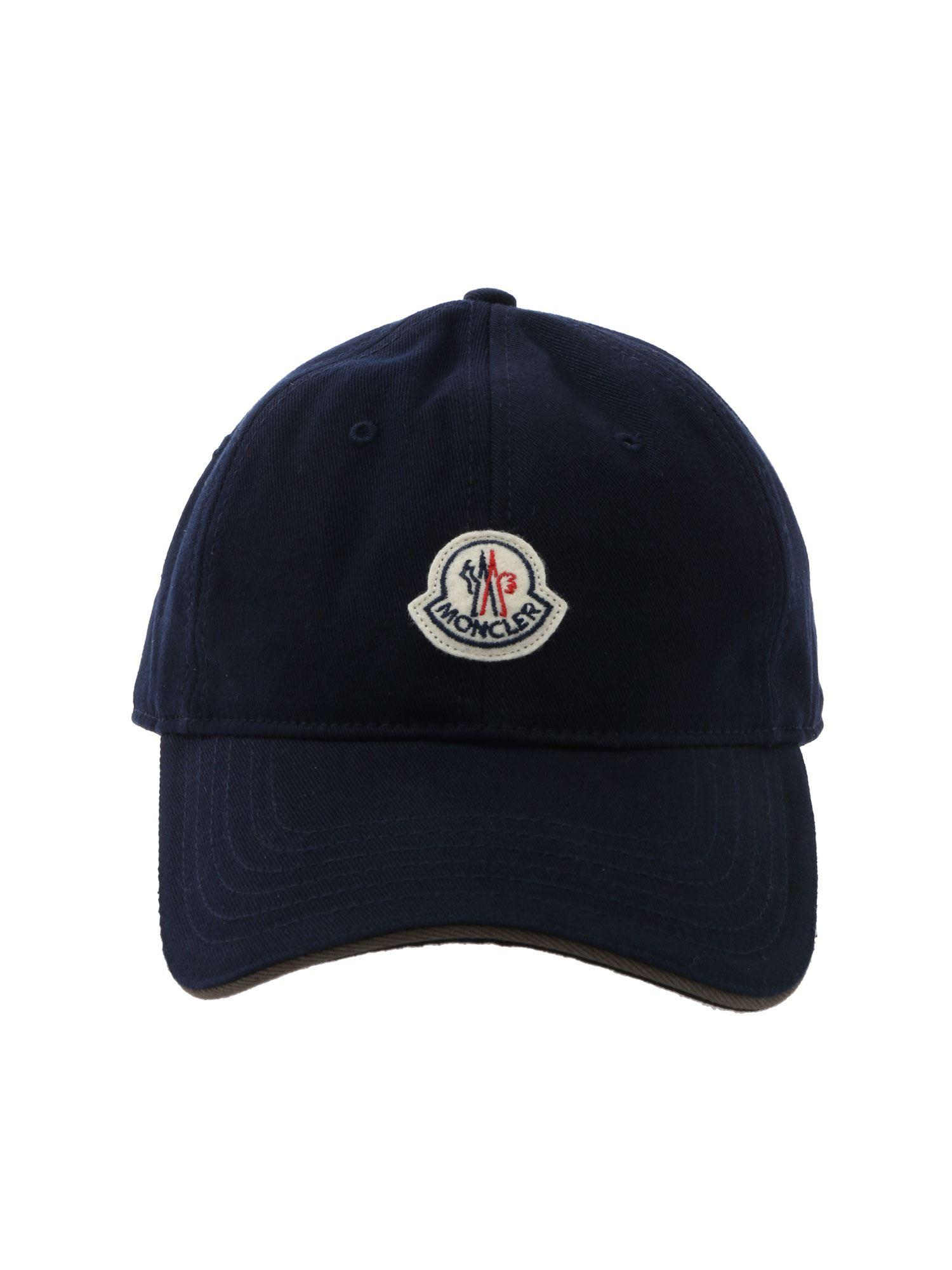 345b6f2604ce Lyst - Moncler Blue Baseball Hat in Blue for Men