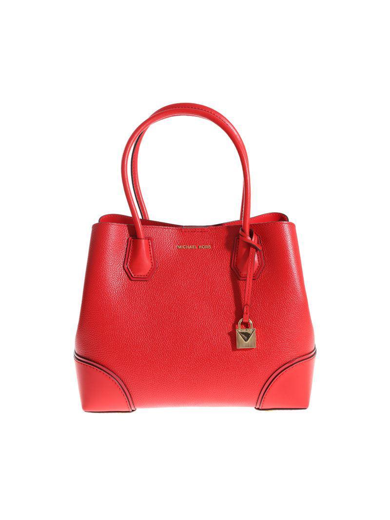 6534e91ae3 Lyst - Michael Kors Mercer Corner Bag in Red
