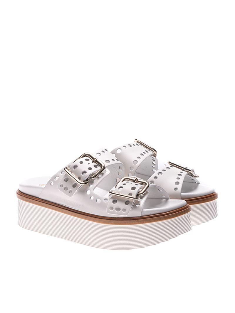 White 97A sandals with buckles Tod's 6hLm4aNg