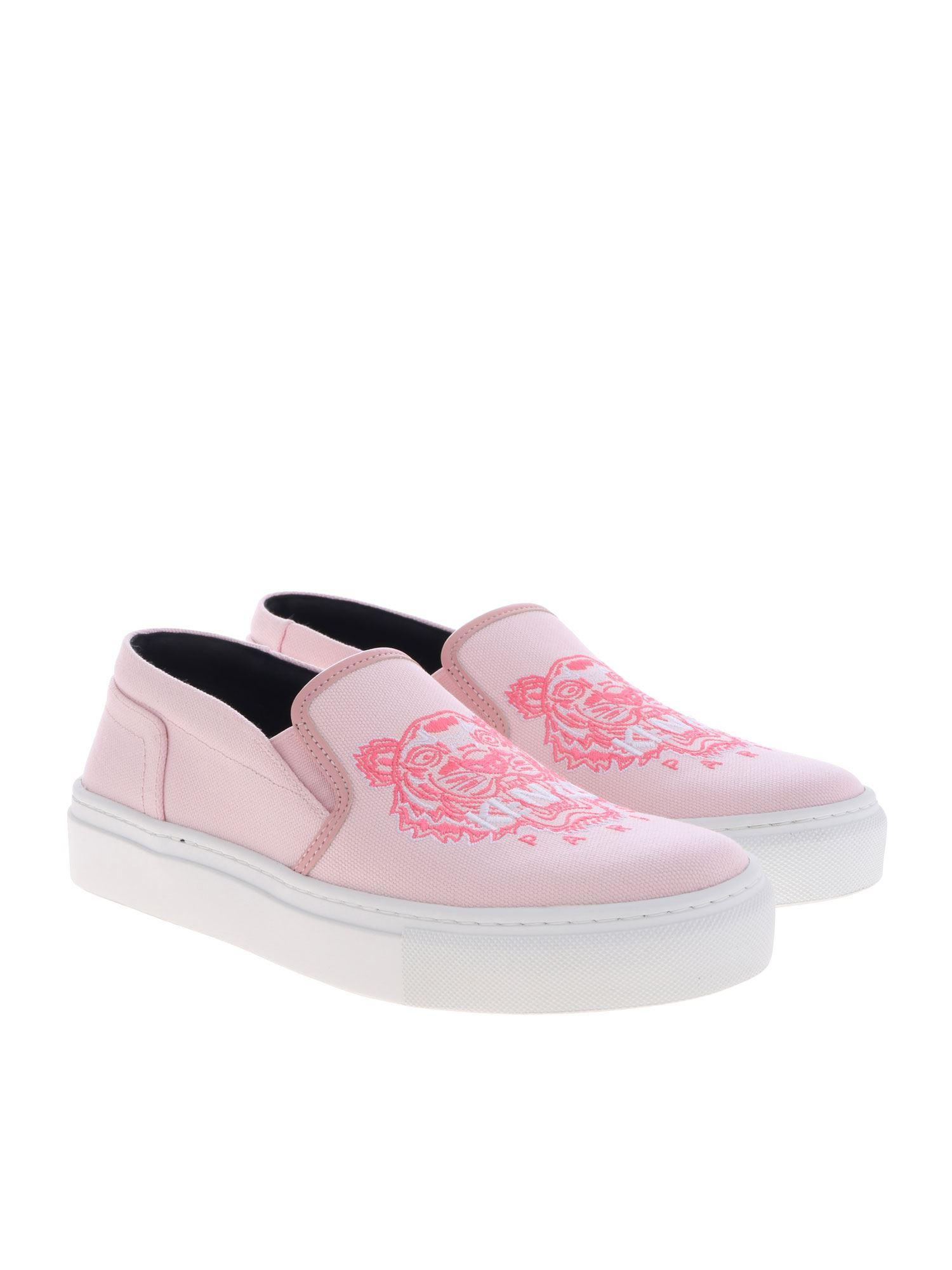 b6fb16b8b4 KENZO K Skate Pink Slip-on With Logo Embroidery in Pink - Lyst
