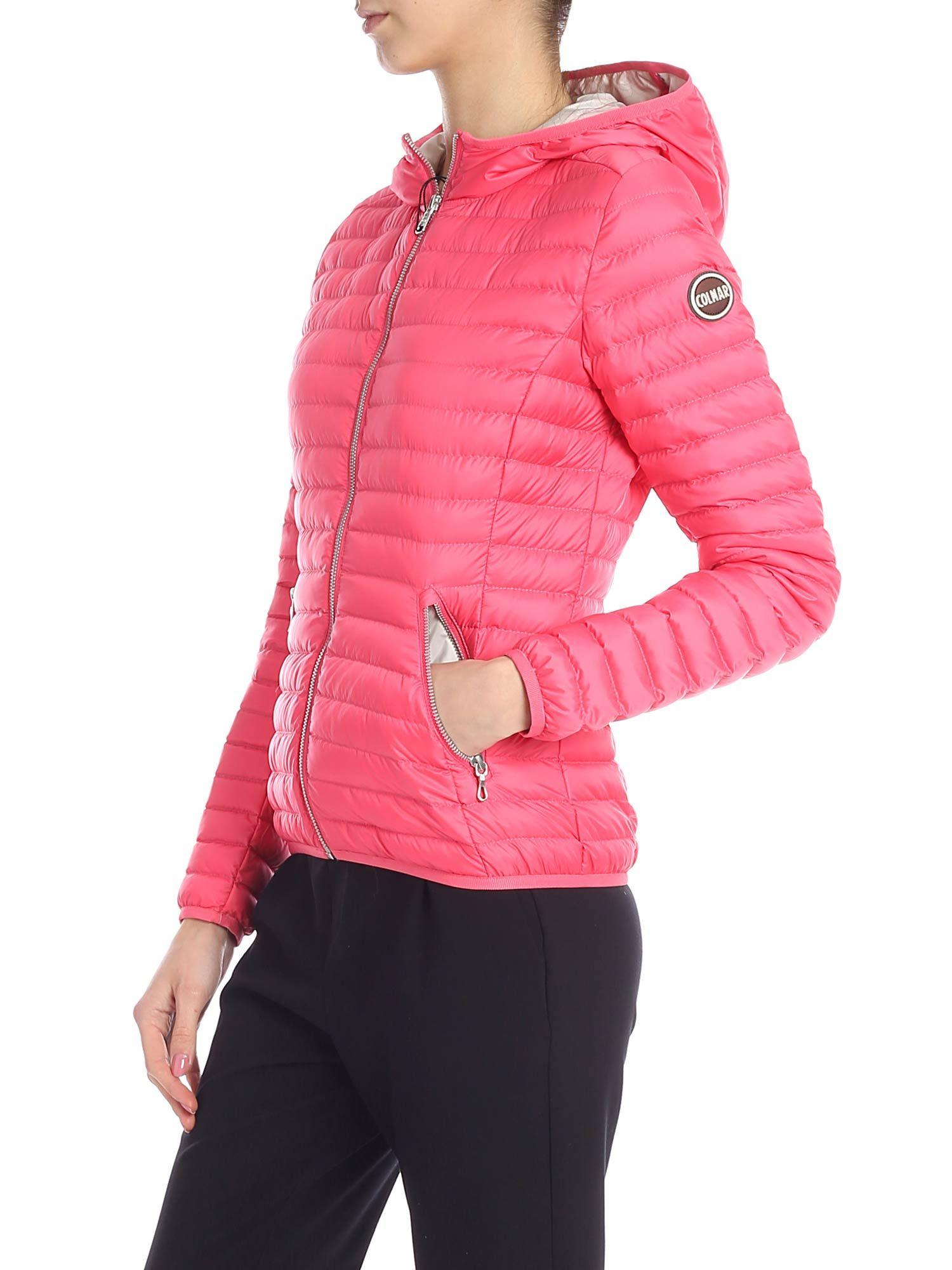 7e9768e45eb Colmar Punk Down Jacket In Pink in Pink - Lyst