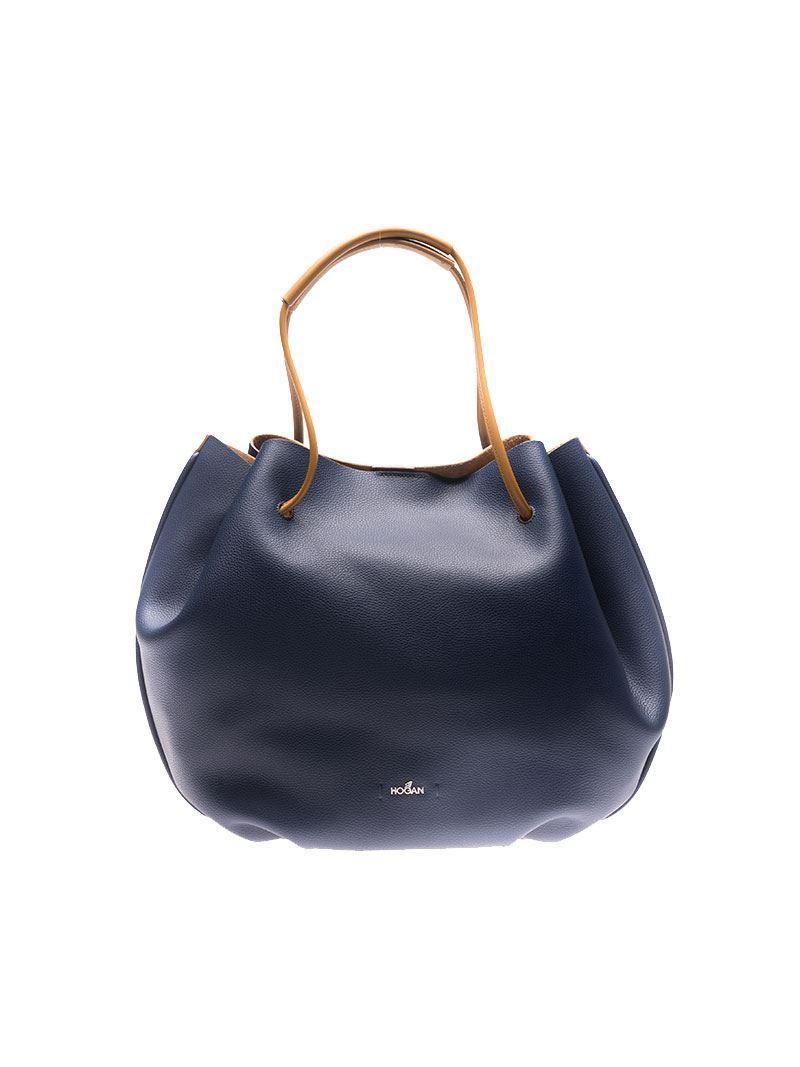 Blue leather shoulder bag Hogan pMWWCt5