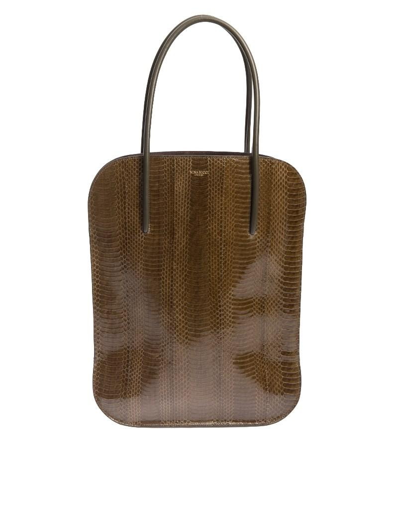 cedd6238591c Lyst - Nina Ricci Snake Leather Bag