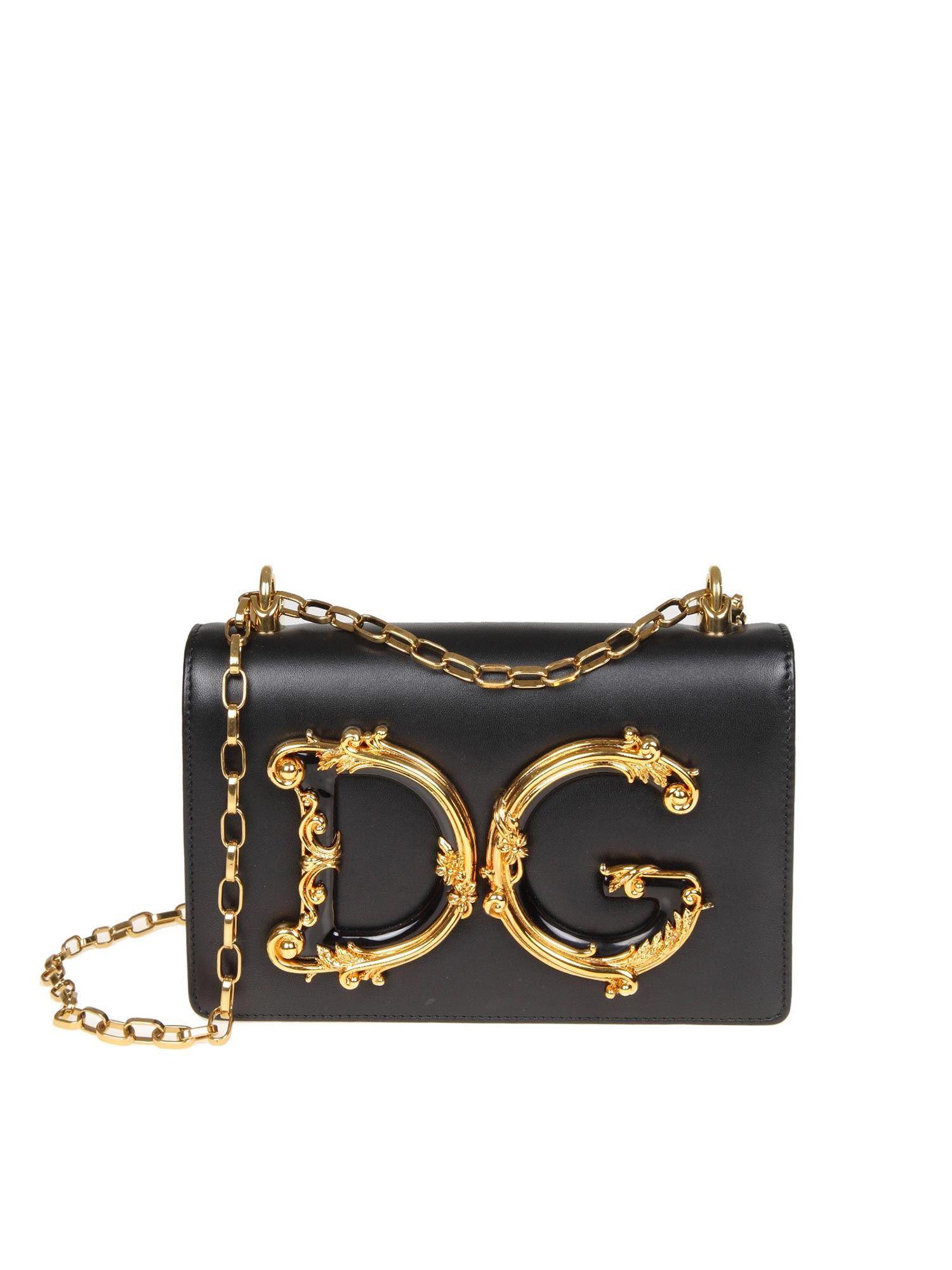 d4f712c76360 Lyst - Dolce   Gabbana Black D g Bag With Baroque Logo in Black