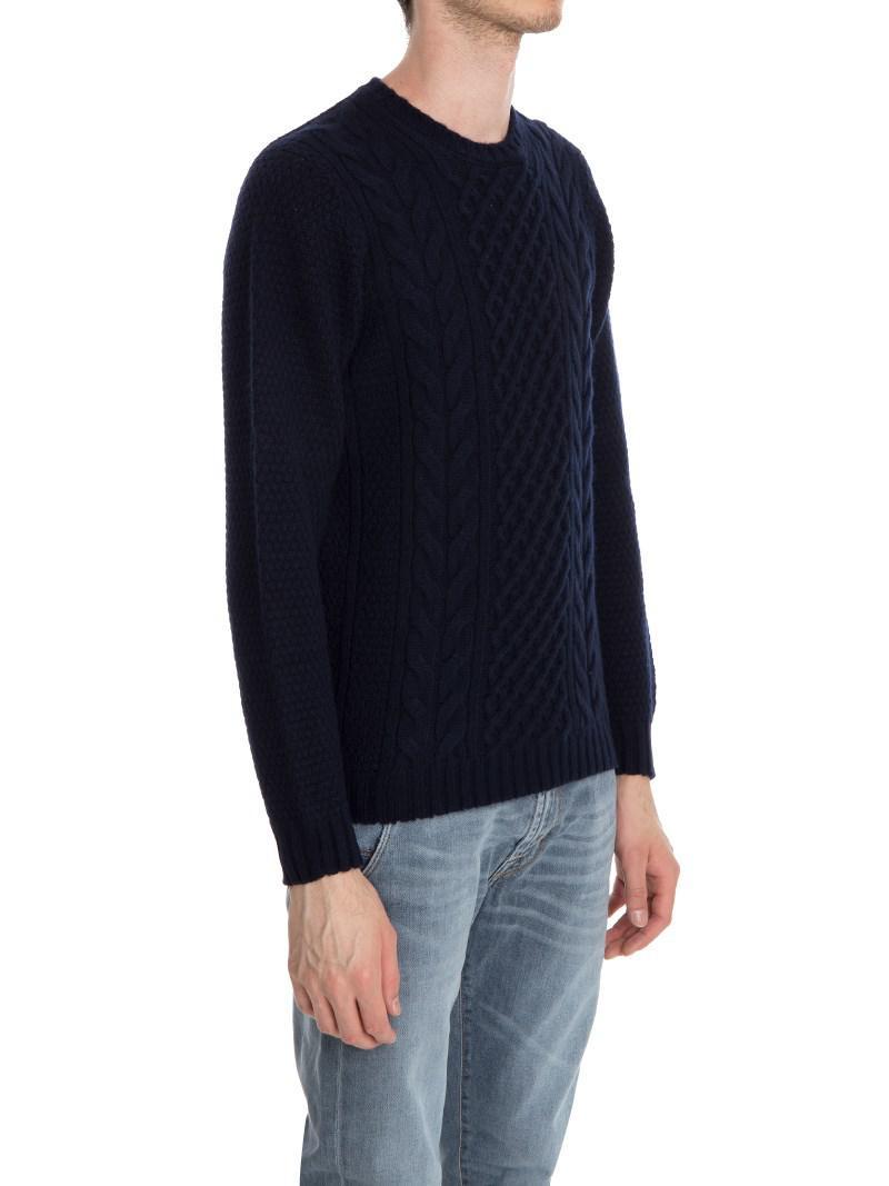 For Men Pullover Fullscreen Blue View Drumohr Lyst Tricot POat4q
