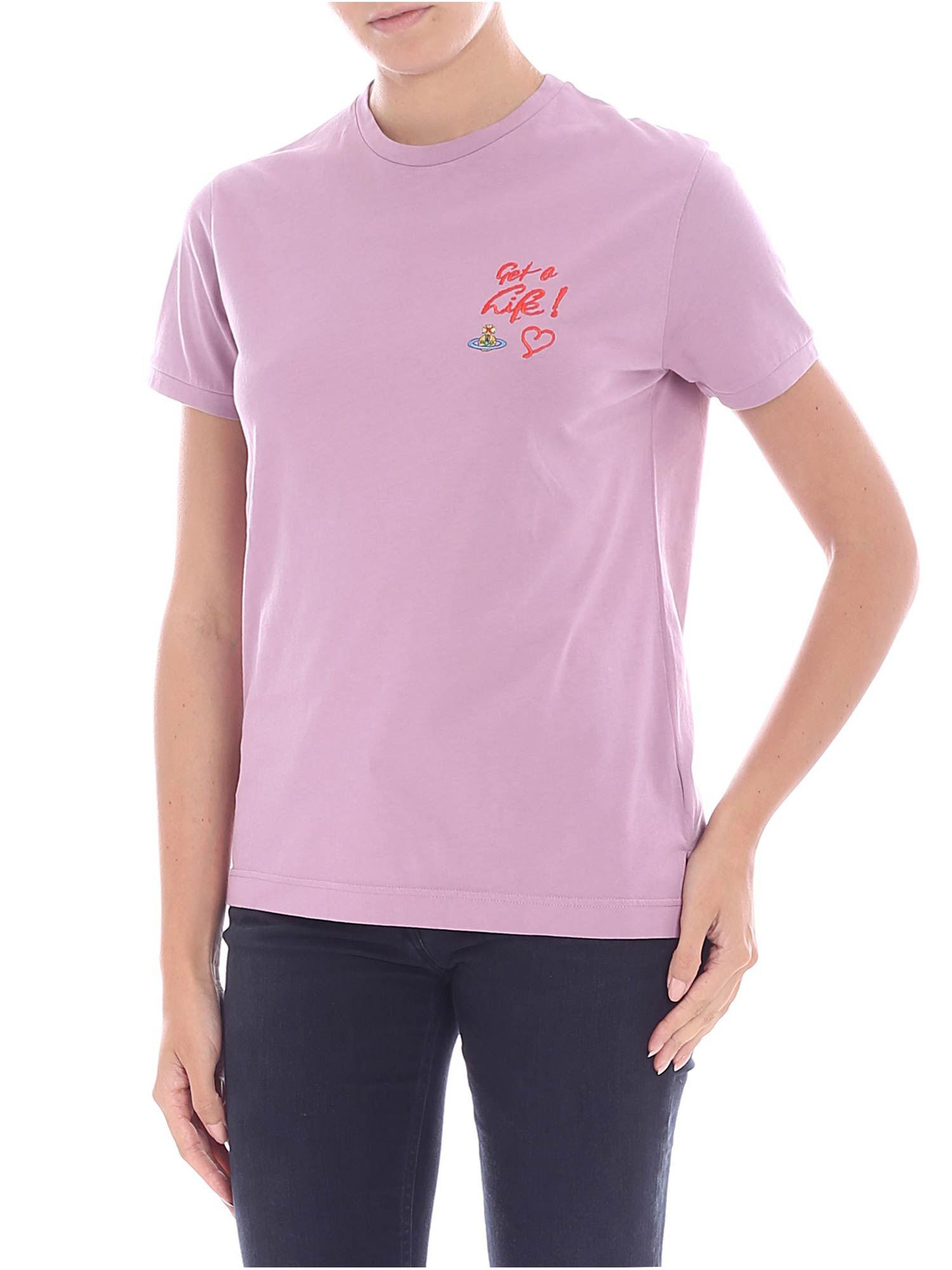 fa0afd4b32f7d Vivienne Westwood Lilac Embroidered T-shirt in Purple - Lyst