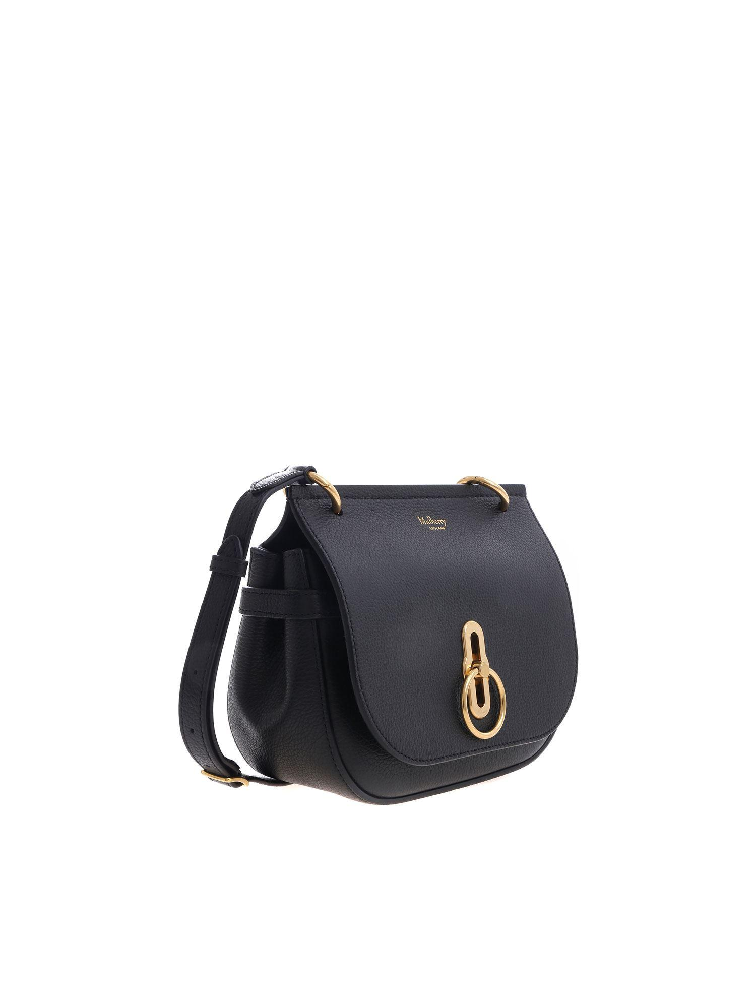 a9f8373bb1bf Mulberry - Amberley Satchel Small Black Bag - Lyst. View fullscreen