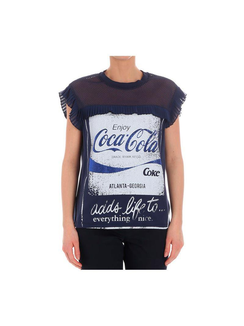 Lyst - Pinko Blue T-shirt (coca-cola Collaboration) in Blue 7f3231353a9