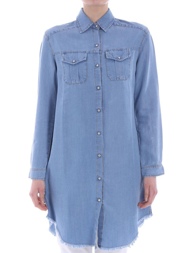 Manchester Cheap Online Sale Shop Light blue chambray shirt-dress Ki6? Who are you? d9RWu