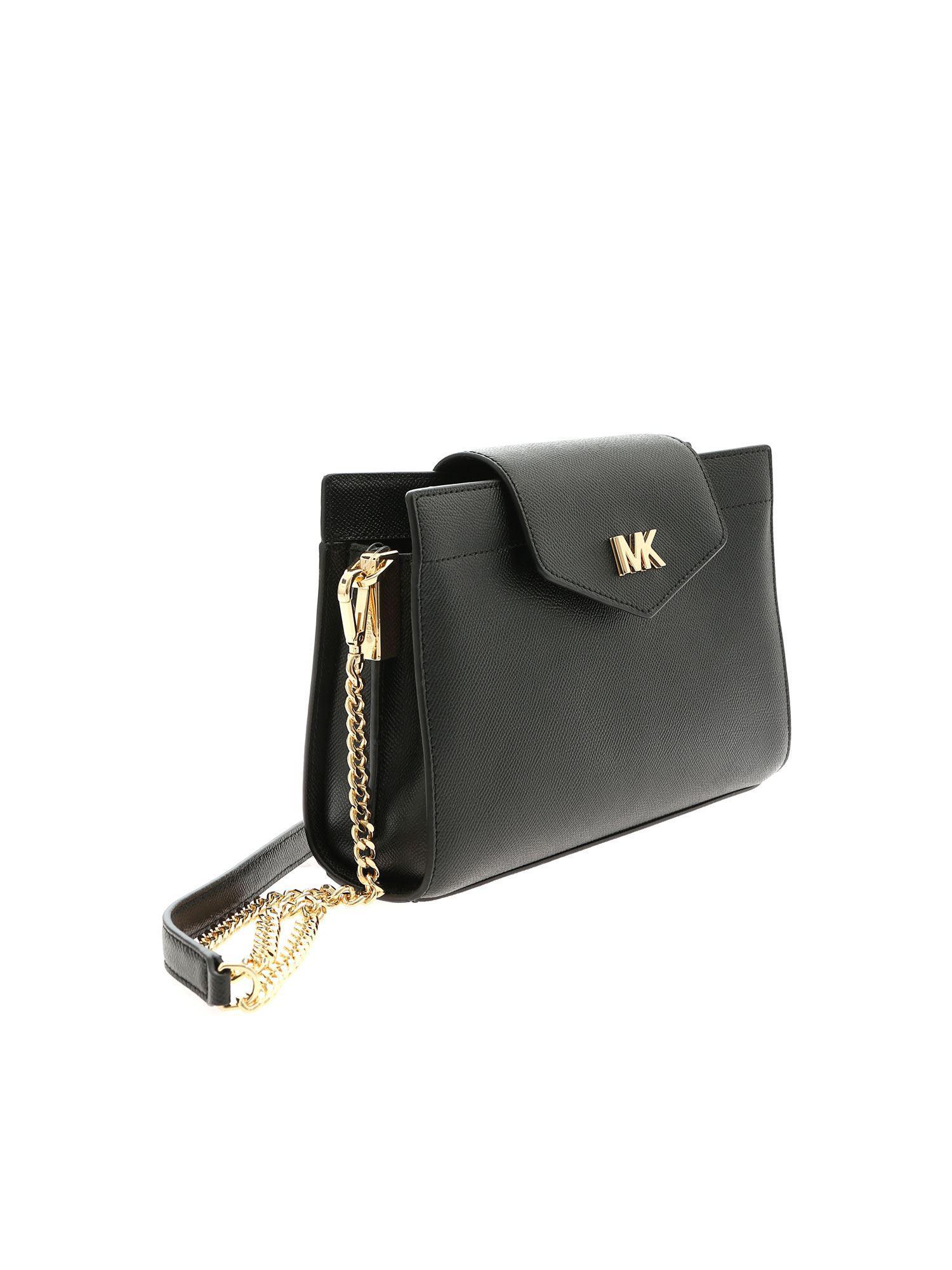 b1a99907d9f3 Lyst - Michael Kors Black Crossbody Bag in Black