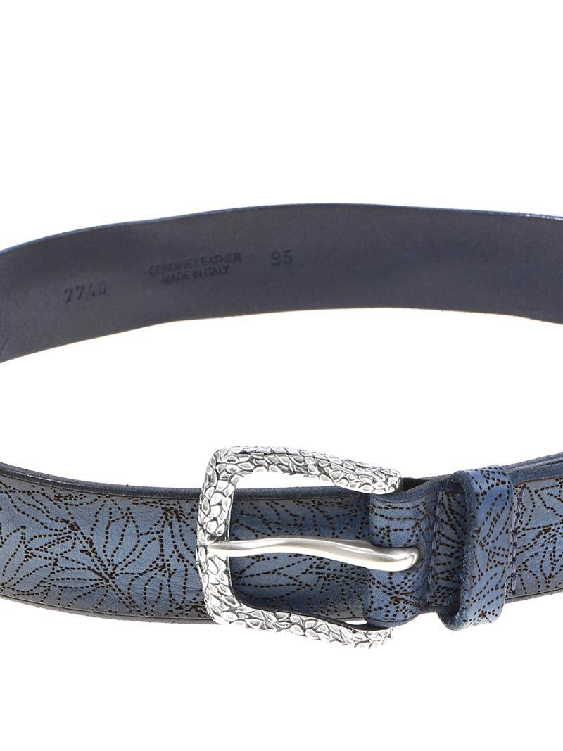 Blue micro-patterned belt Orciani 8UCInCG