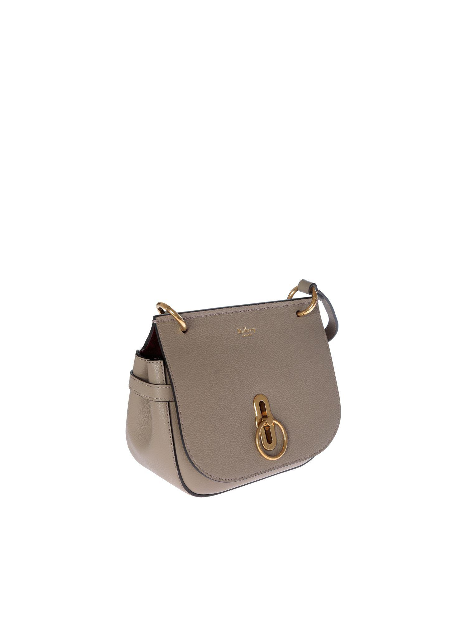 c7e2b568f0 Lyst - Mulberry Small Amberley Satchel Bag In Dove Grey Leather in Gray