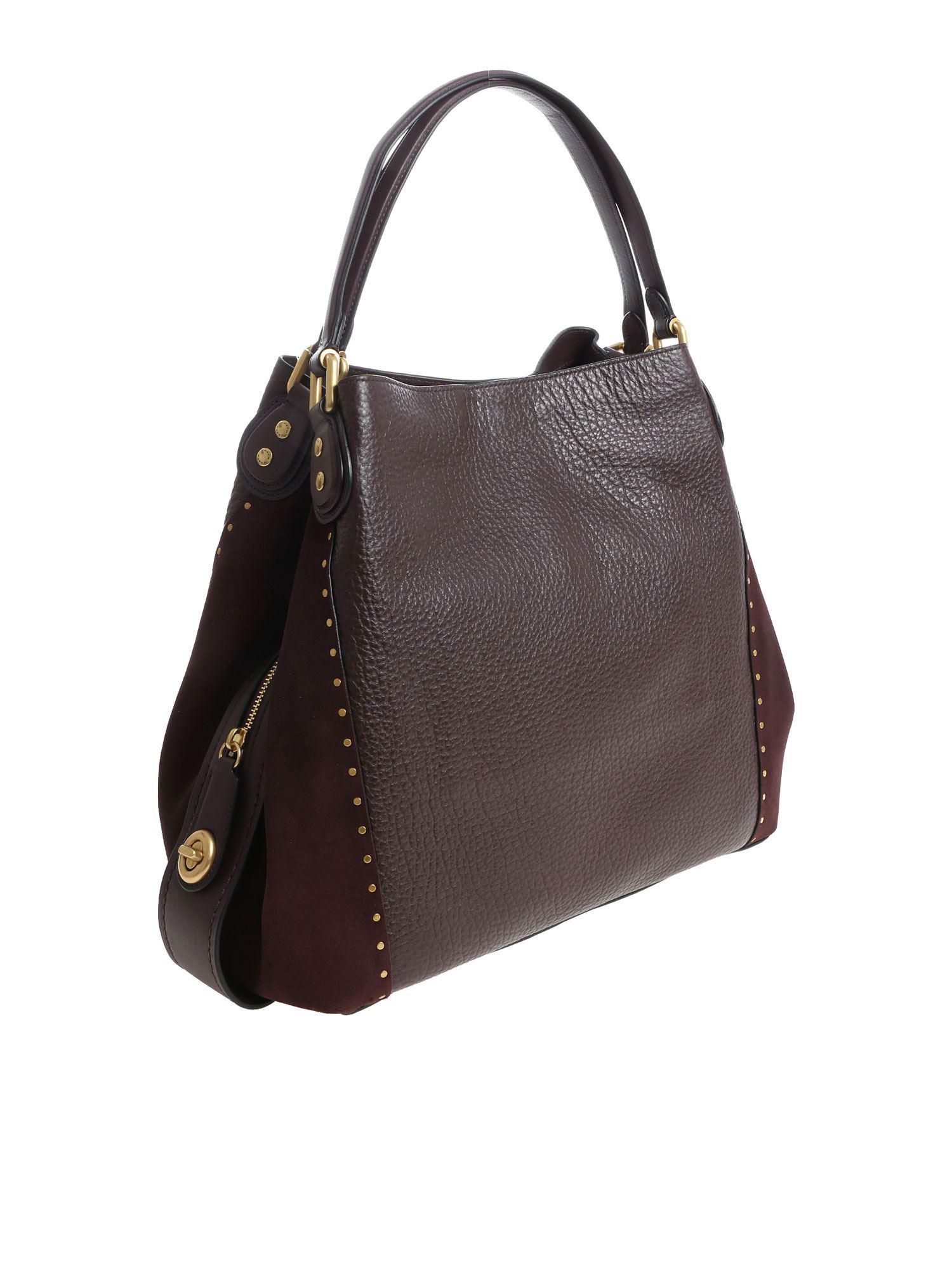 8e409537a9 COACH – Multicolor Burgundy Leather Shoulder Bag – Lyst. View fullscreen. Holt  Renfrew ...