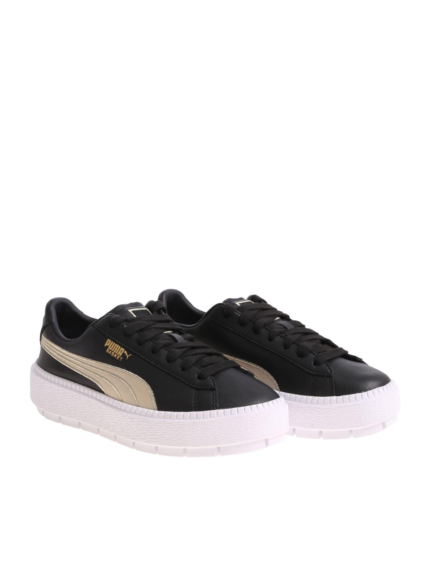 b86b60eb552 Lyst - PUMA Wn Platform Trace Bsqt.blk Shoes (trainers) in Black