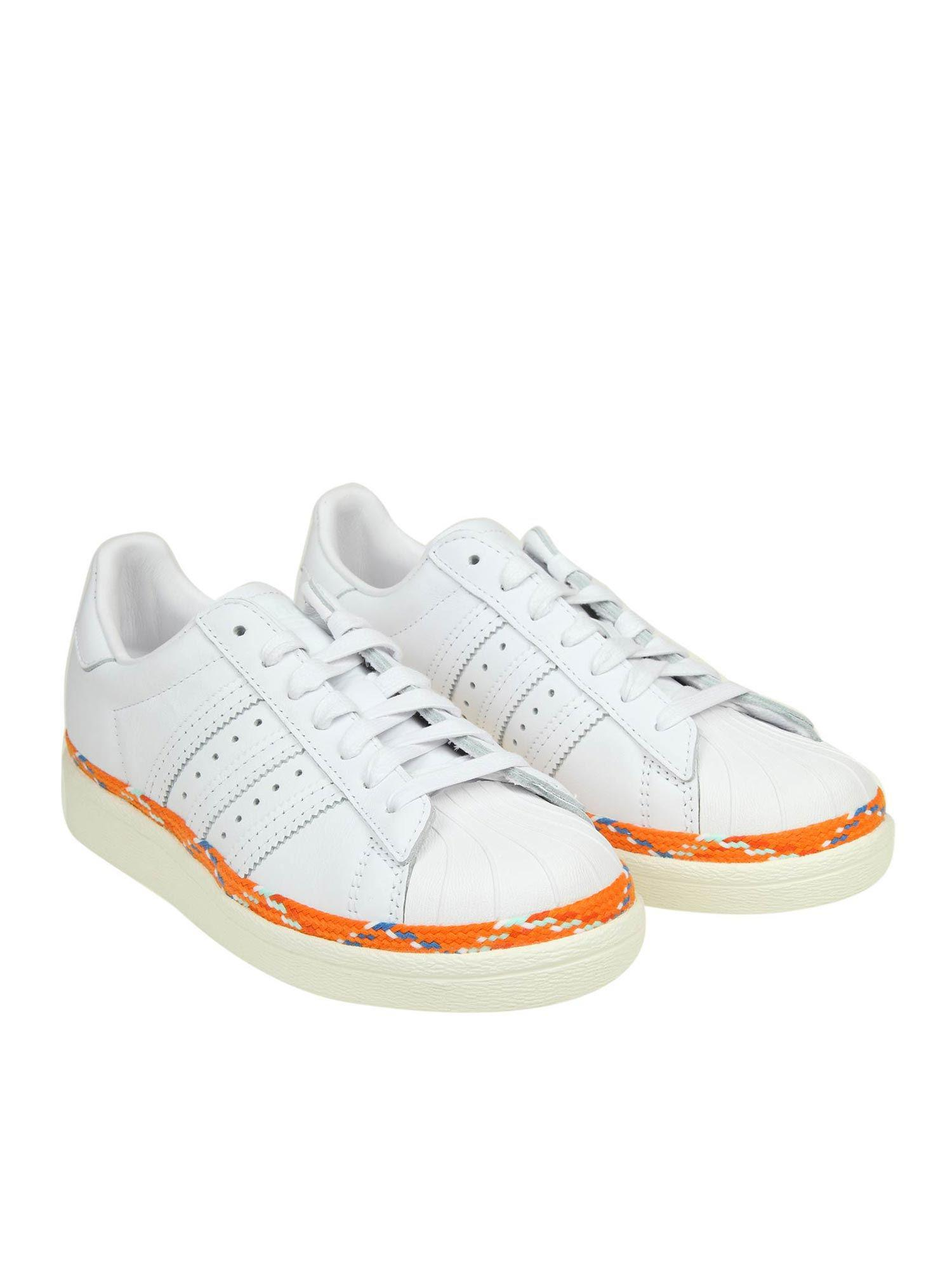 06faa54e035b Lyst - adidas Originals Superstar 80s New Bold Sneakers in White