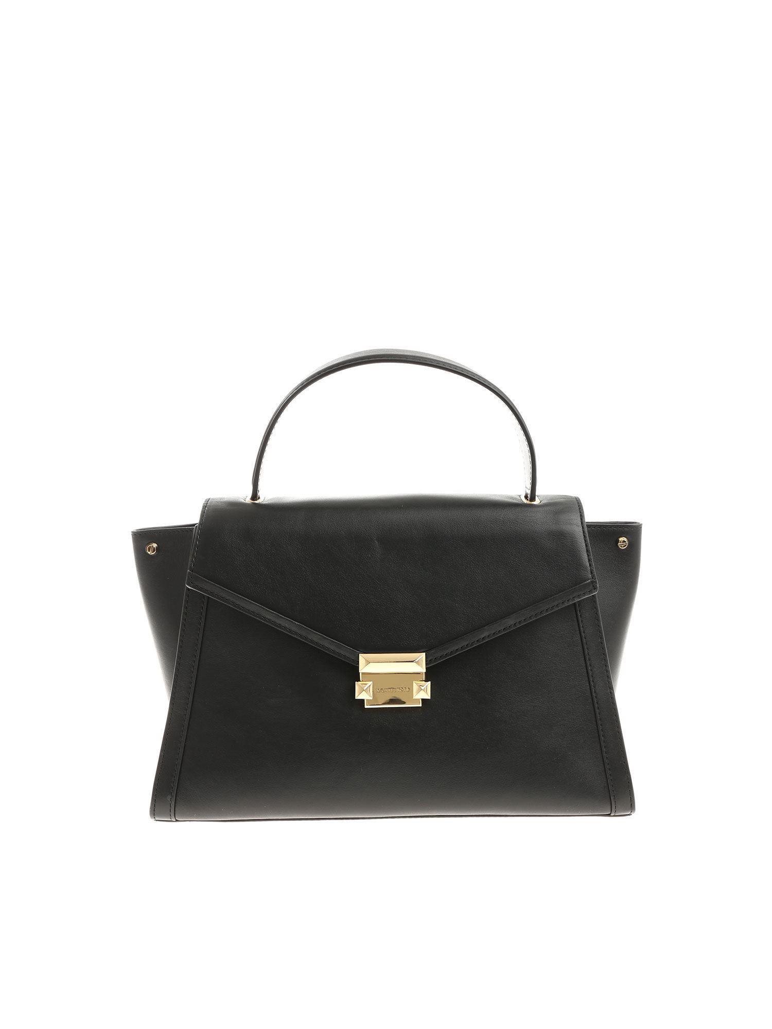 5d2ff2b39ca2 Lyst - Michael Kors Black Whitney Handbag in Black