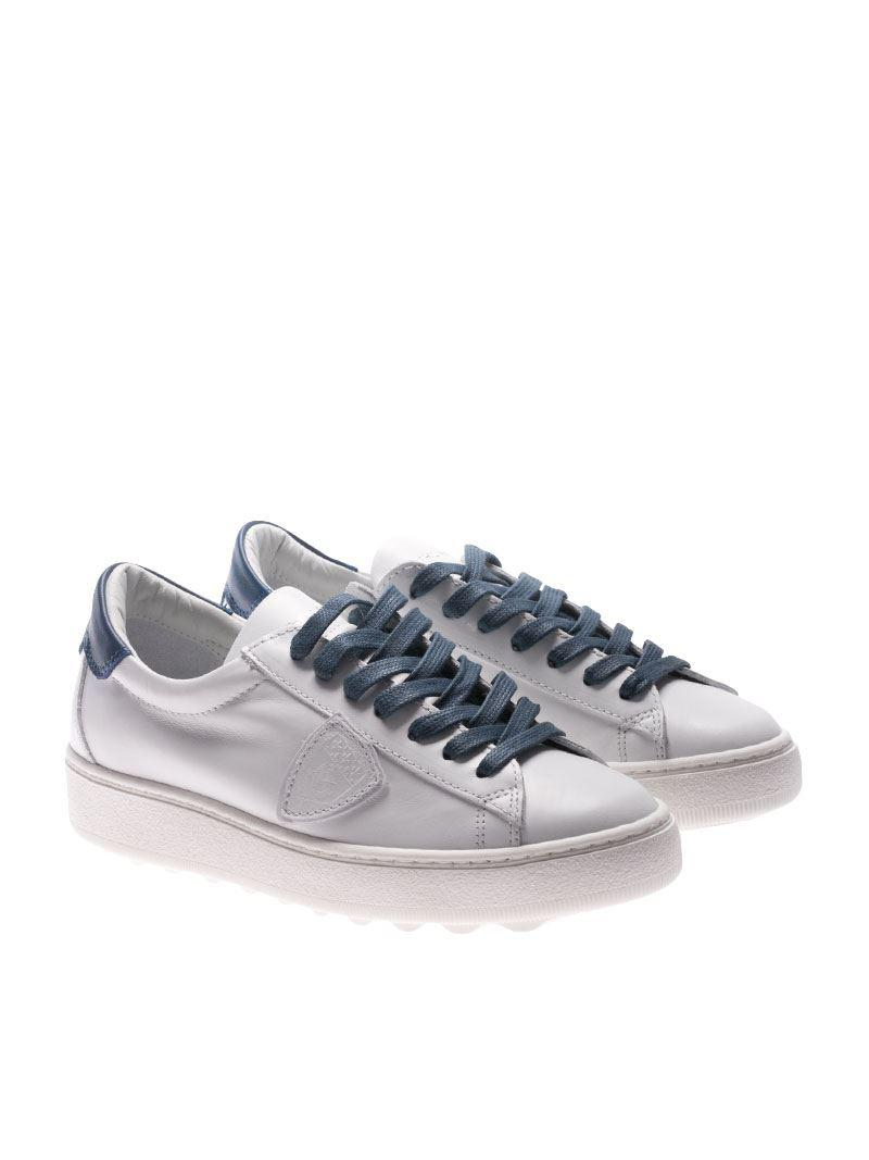 Madeleine white and blue sneakers Philippe Model