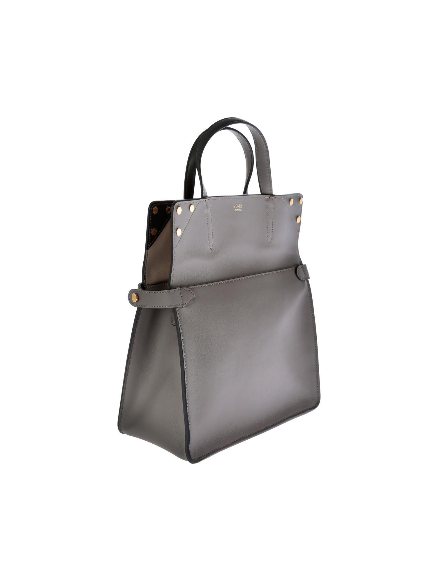 0db45dcd978d Lyst - Fendi Slim Small Gray Bag in Gray