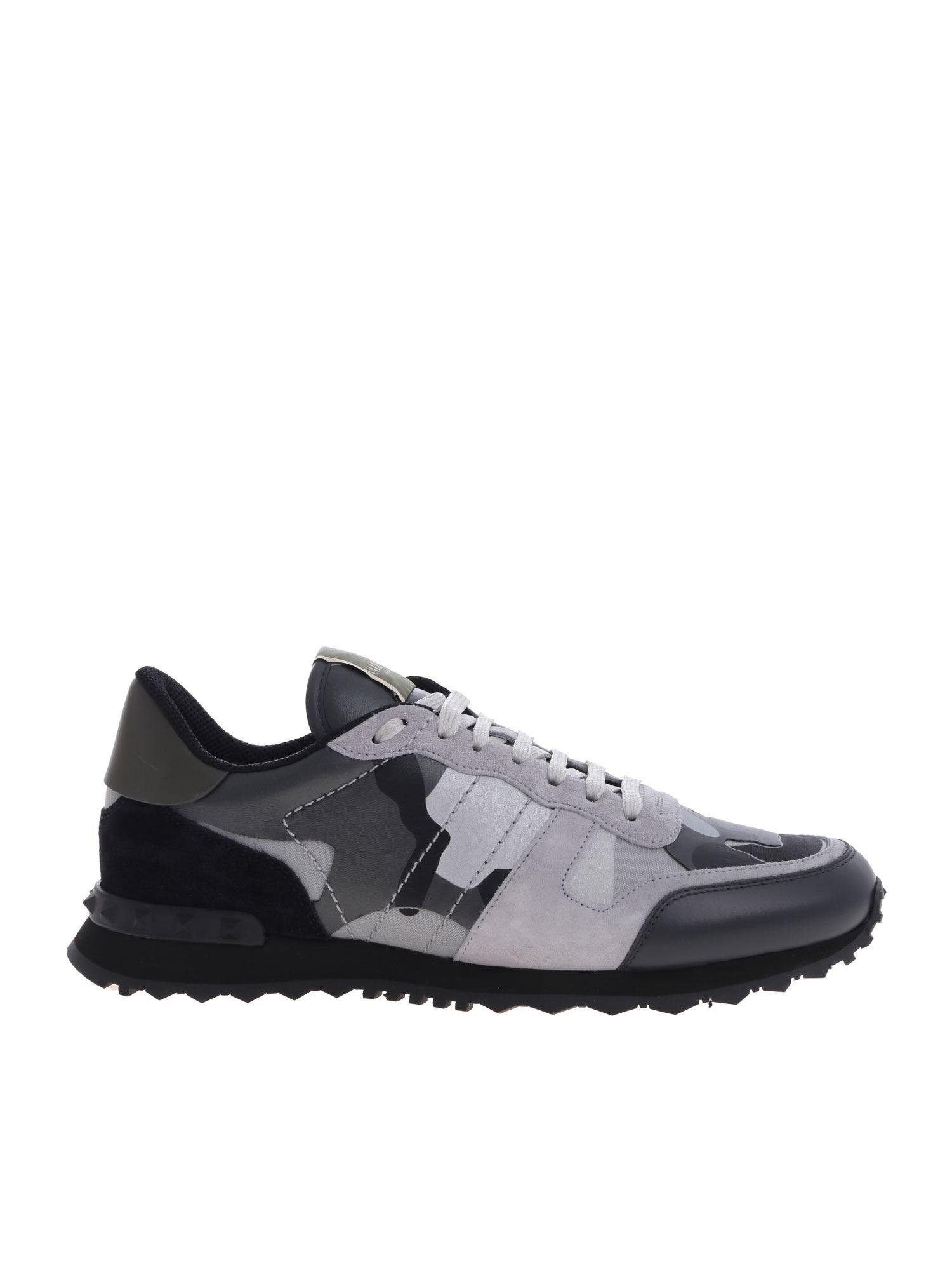 8a0b0fbfe2a5a Lyst - Valentino Rockrunner Camuflage Sneakers for Men